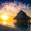 Over water bungalows with steps — Stock Photo #46416815