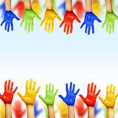 Hands of different colors — Foto de Stock