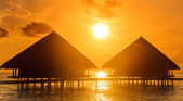 Water Villas - Bungalows — Stock Photo