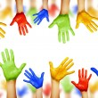 Hands of different colors — Stock Photo #49001193