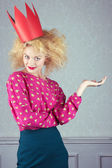Passion woman in red crown — Stock Photo