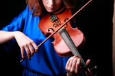 Music portrait of young woman. — Stock Photo