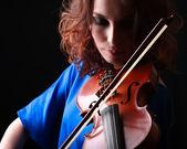 Gry na skrzypcach — Zdjęcie stockowe