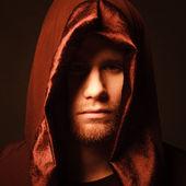 Mysterious Catholic monk. — Stock Photo