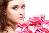 Magnificent portrait of a beautiful young woman — Stock Photo