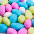 Sugar coated  dragees candies - Stock Photo
