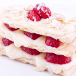 Mille feuille cake with strawberry,puff cake — Photo