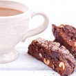 Chocolate biscotti — Stock Photo
