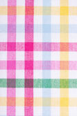 Checked fabric texture — Stock Photo