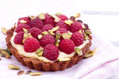 Raspberry mini tart — Stock Photo