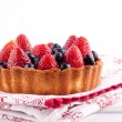 Strawberry and blueberry tart — Stock Photo