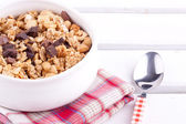 Granola with chocolate and hazelnut — Stock Photo