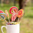 Lollipop candies — Stock Photo