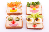 Face on bread — Stock Photo