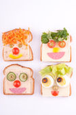 Face on bread — Foto de Stock