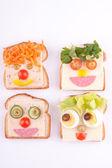 Face on bread — Stock Photo