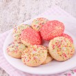 Sugar srpinkles cookies — Stock Photo #24439241