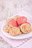 Sugar srpinkles cookies — Stock Photo