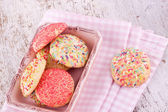Sugar srpinkles cookies — Stock Photo