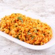 Kisir, Bulgur salad with tomato paste, parsley and onion — Stock Photo