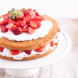 Strawberry cream cake — Stock Photo #27508917