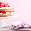 Strawberry cream cake — Stock Photo