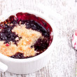 Stock Photo: Cherry crumble
