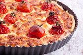 Cheese tart with tomato — Stock Photo