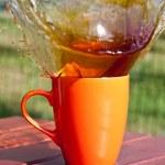 Coffee splash — Stock Photo
