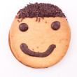 Face on cookie — Stock Photo