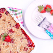 Stock Photo: Strawberry crumble