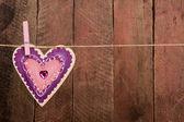 En forma de corazón de madera — Foto de Stock