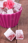 Turkish delight with rose flavour — Stock Photo