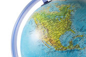 North America on a globe — Stok fotoğraf