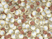 Lots of euro coins in detail — Stock Photo