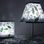 绿色烛台 — 图库照片