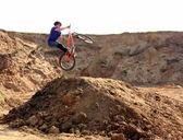Jump on a bike — ストック写真