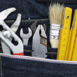 Tools and jeans pocket — ストック写真