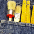 Tools and pocket — Stock Photo