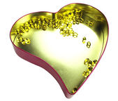 Heart filled with omega 3 — Stock Photo