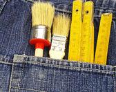 Strumenti e tasca — Foto Stock