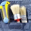 Tools and jeans pocket — Foto Stock