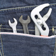 Tools and jeans pocket — Foto de stock #22443449