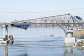 Construction of a new bridge, Grudziadz. Poland — Stock Photo