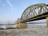 Bridge across the River Vistula — Stock Photo