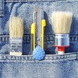 Tools in pocket - Stock Photo