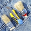 Stock Photo: Tools in pocket