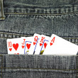 Cards in pocket - Foto de Stock