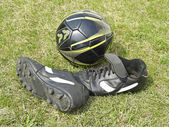 Soccer Shoes in Tall Grass — Foto de Stock