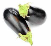 Fresh aubergines — Stock Photo